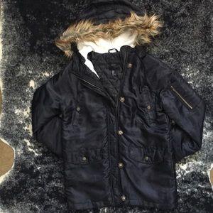 F21 Black Winter Jacket